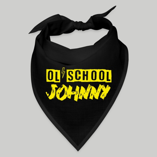 Ol' School Johnny Logo in Yellow - Bandana