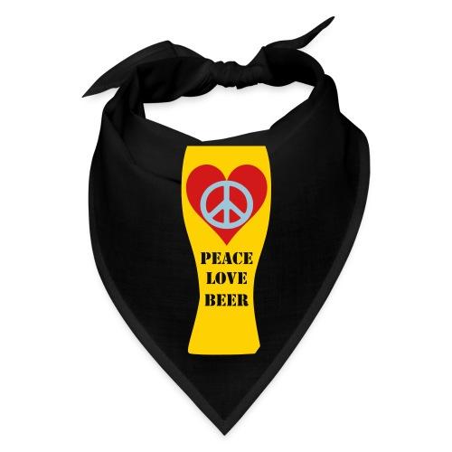Peace Love Beer - Bandana