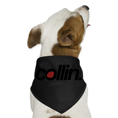 Collin. (Black w/ Rose) - Dog Bandana