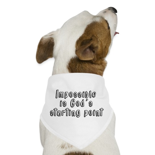 God's starting point - Dog Bandana