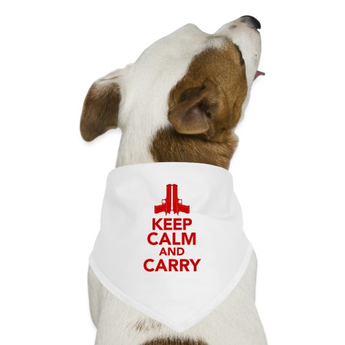 KeepCalm_Point-Up_RED - Dog Bandana