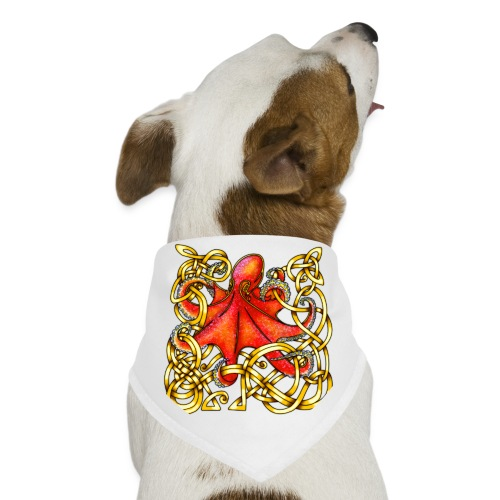 Octopus - Red & Gold - Dog Bandana