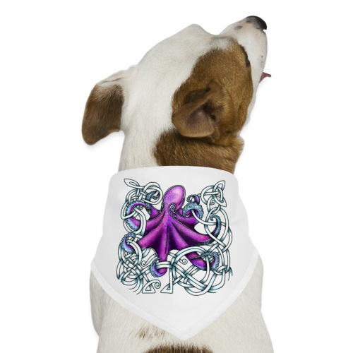 Celtic Octopus - Purple - Dog Bandana