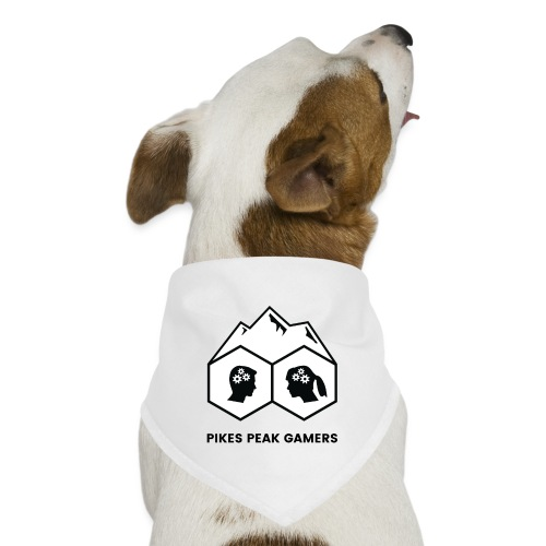 Pikes Peak Gamers Logo (Solid White) - Dog Bandana