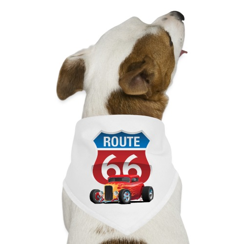 Route 66 Sign with Classic American Red Hotrod - Dog Bandana