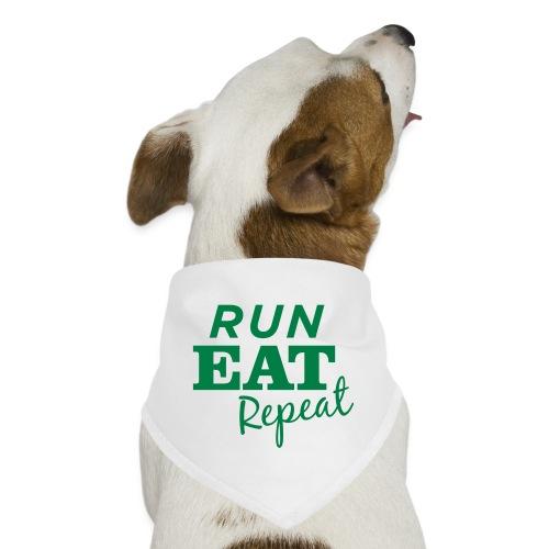 Run Eat Repeat buttons medium - Dog Bandana
