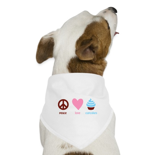 peacelovecupcakes pixel - Dog Bandana