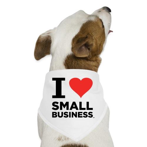 I Heart Small Business (Black & Red) - Dog Bandana