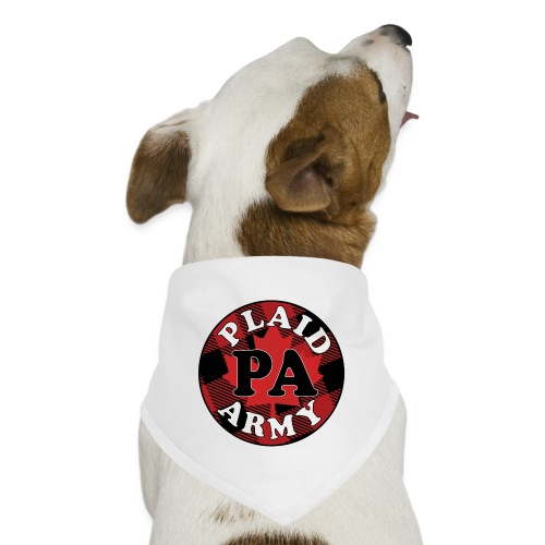 plaid army round - Dog Bandana