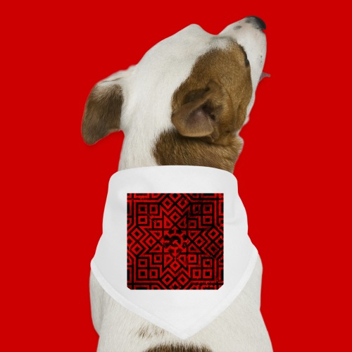 Detailed Chaos Communism Button - Dog Bandana