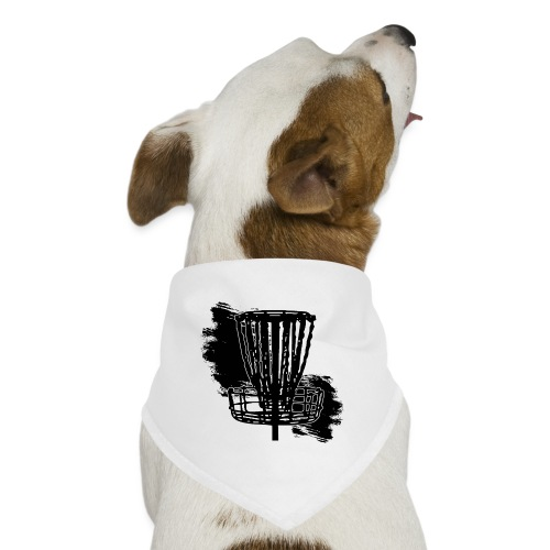 Disc Golf Basket Paint Black Print - Dog Bandana