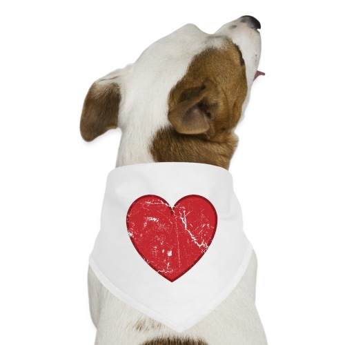 Cool Valentine Vintage Heart - Dog Bandana