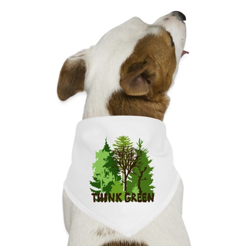 EARTHDAYCONTEST Earth Day Think Green forest trees - Dog Bandana