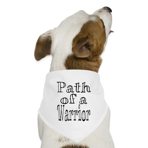 Path of a Warrior (White) - Dog Bandana