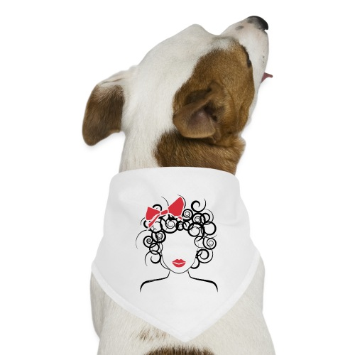 Curly Girl with Red Bow_Global Couture_logo T-Shir - Dog Bandana