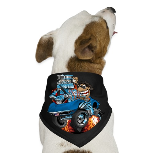 Classic '69 American Sports Car Cartoon - Dog Bandana