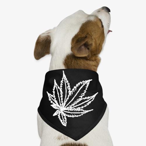 white leaf - Dog Bandana