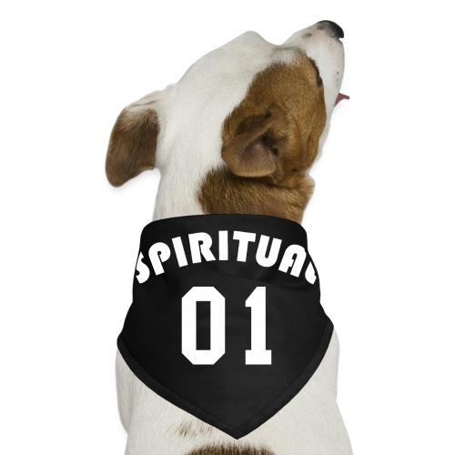 Spiritual 01 - Team Design (White Letters) - Dog Bandana
