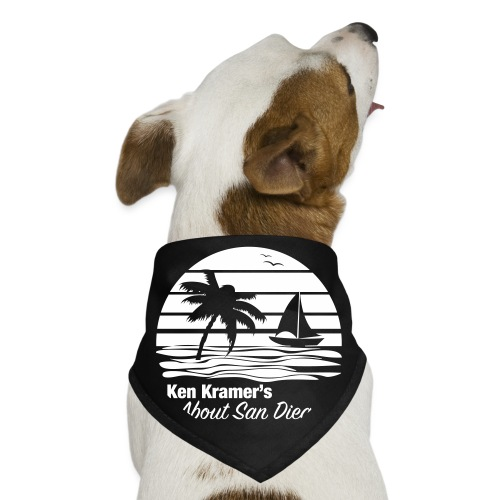 Ken's Awesome Monochrome Logo - Dog Bandana