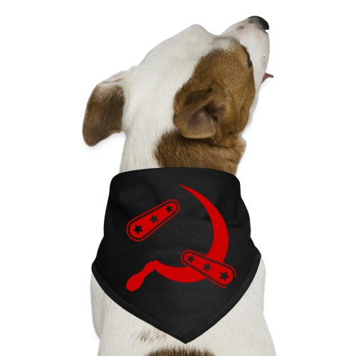 Flipper & Sickle - Red (No Name) - Dog Bandana