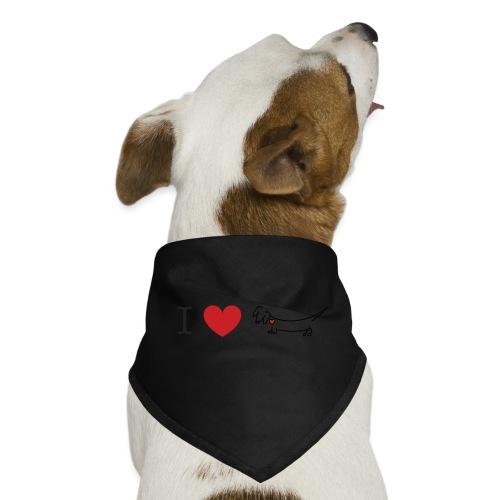 I love Dachshund - Dog Bandana