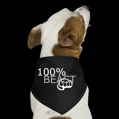 100% beast logo white - Dog Bandana