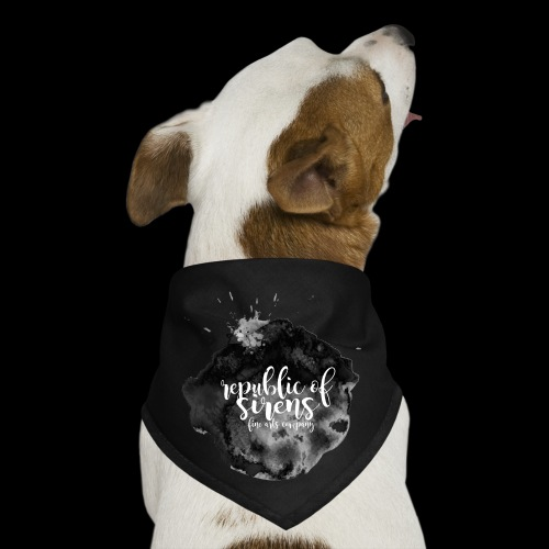 ROS FINE ARTS COMPANY - Black Aqua - Dog Bandana