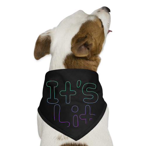 2-Tone It's Lit! Design - Dog Bandana