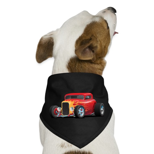 Classic Bold Red Custom Street Rod - Dog Bandana