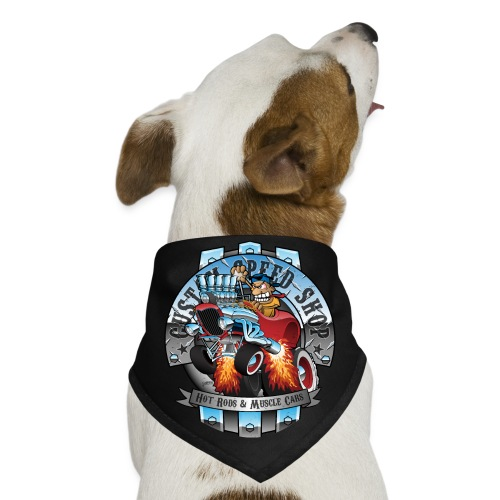 Custom Speed Shop Hot Rods and Muscle Cars Illustr - Dog Bandana