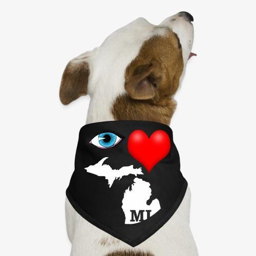 I Love Michigan, Eye Heart Michigan - Dog Bandana