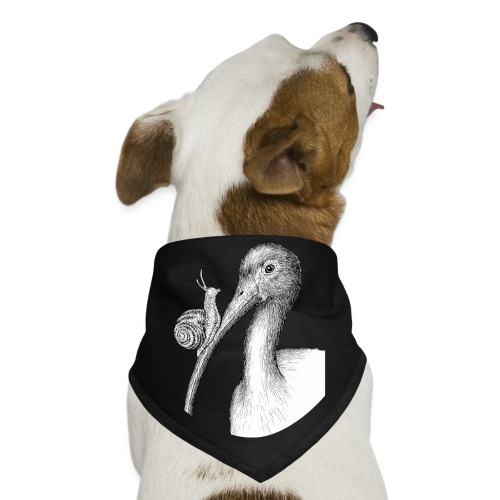 Ibis with Snail by Imoya Design - Dog Bandana