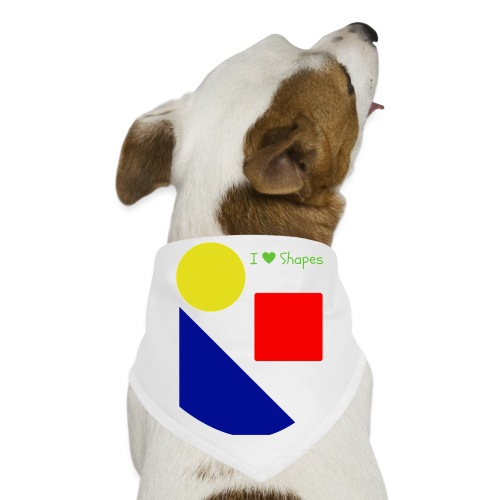 Hi I'm Ronald Seegers Collection-I Love Shapes - Dog Bandana