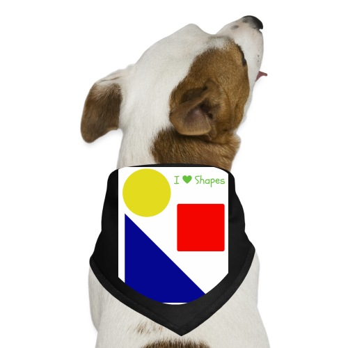 Hi I'm Ronald Seegers Collection-I Love Shapes - Dog Bandana