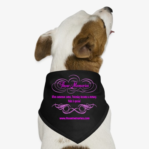 Those Memories logo - Dog Bandana
