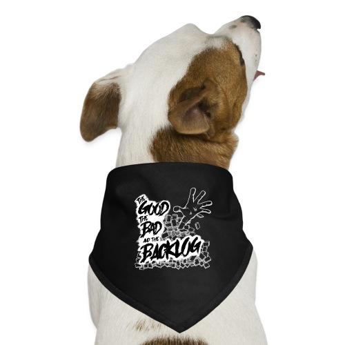 The Good, the Bad, and the Backlog - White logo - Dog Bandana