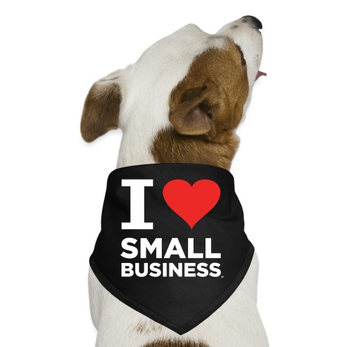 I Heart Small Business Logo (Red & White) - Dog Bandana