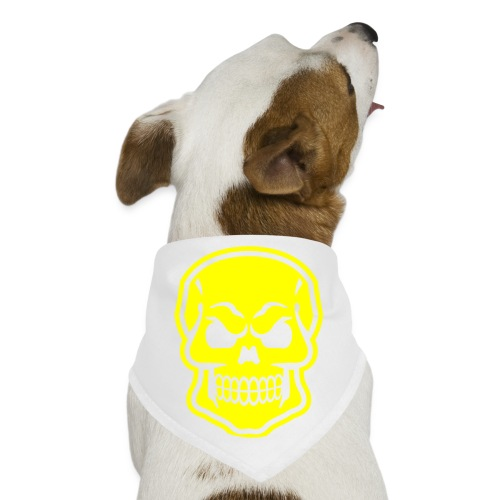 Skull vector yellow - Dog Bandana