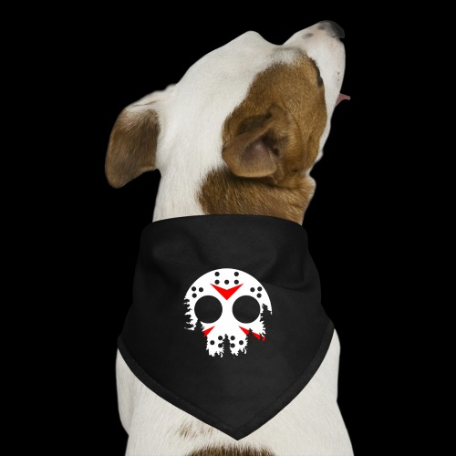Haunted Halloween Hockey Mask - Dog Bandana
