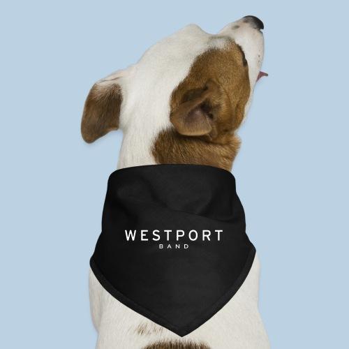 Westport Text White on transparent - Dog Bandana