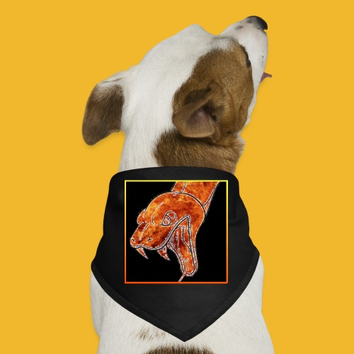 snake black border - Dog Bandana