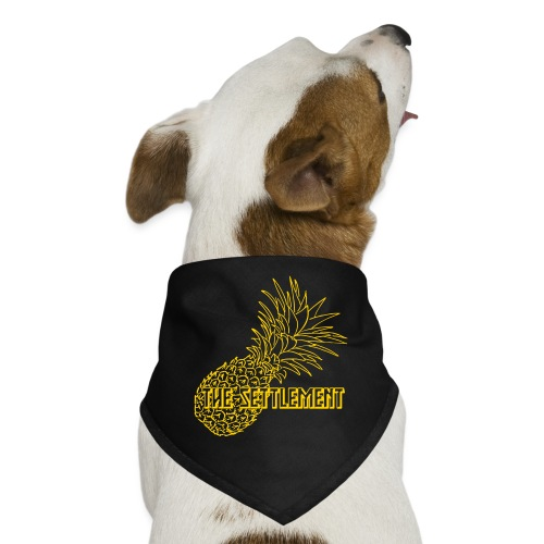 Pineapple with Band Name | The Settlement - Dog Bandana
