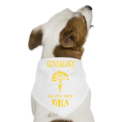 genealogy is in my dna funny birthday gift yellow - Dog Bandana