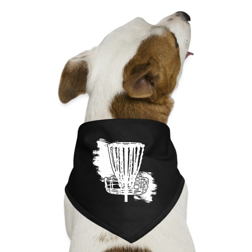 Disc Golf Basket White Print - Dog Bandana