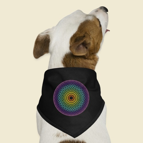 Torus Yantra Hypnotic Eye rainbow - Dog Bandana