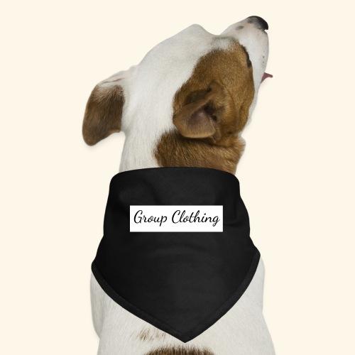 Cursive Black and White Hoodie - Dog Bandana