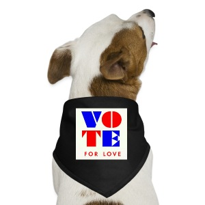 vote4love-sample - Dog Bandana