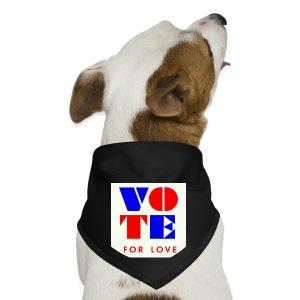vote4love-sample - Dog Bandana