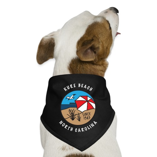 Kure Beach Day-White Lettering-Front Only - Dog Bandana