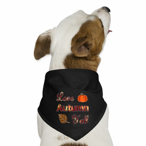 Love Autumn Y'all Fall Season Leaf Foliage Gourd. - Dog Bandana